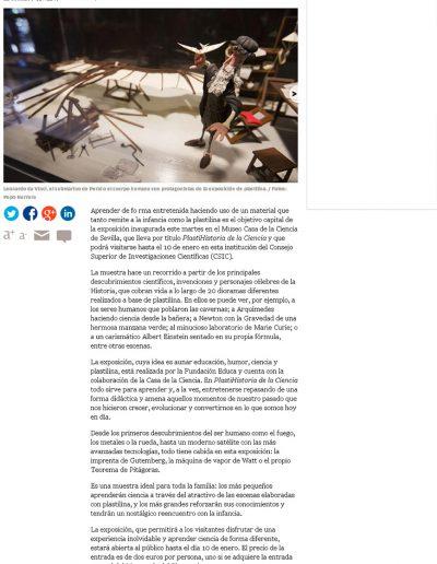EL CORREO DE ANDALUCÍA 3 NOV 2015
