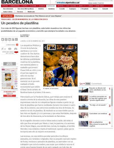 EL PERIÓDICO DE BARCELONA 22 DIC 2011